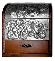 ROSES CHEST (FRONT) by arteymetal on deviantART. Embossed (repousse) chest for a gardener and his partner. The main motive is a collection of roses and also includes gardening tools.