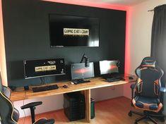 Get One, Game Room, Corner Desk, Games, Furniture, Instagram, Home Decor, Corner Table, Decoration Home