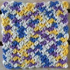 Spring Confetti Crochet Dishcloth