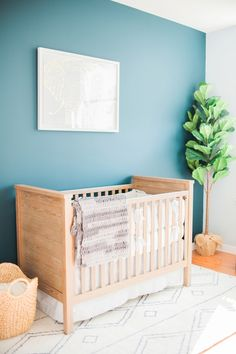Photography: Evian Granitz - www.eviangranitzphotography.blogspot.com Read More on SMP: http://www.stylemepretty.com/living/2017/03/01/a-tranquil-nursery-for-a-baby-boy/