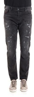 Diesel Men's Black Cotton Jeans.