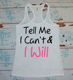 Ladie's workout tank. Burnout tank. women's by strongconfidentYOU, $22.00