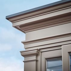 It's all about the detail. This stunning entablature is the perfect finishing touch to make your orangery stand out from the crowd. House Outside Design, House Front Design, Dream Home Design, Modern House Design, Door Design, Classic Architecture, Architecture Details, Cornice Design, Classic House Exterior
