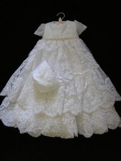 Bobbi Leiphart, Custom Christening and Baptism Gowns from Wedding Dresses Baby Christening Gowns, Baptism Dress, Baby Baptism, Little Girl Dresses, Flower Girl Dresses, Blessing Dress, Baptism Outfit, Angel Gowns, Baby Couture