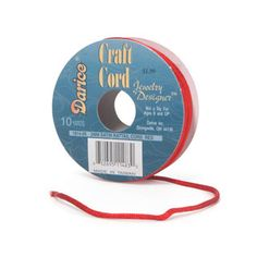 Rattail Jewelry Making Cord:  Red Satin - 2mm