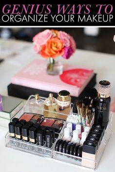 How to organize your makeup! #makeup #beauty