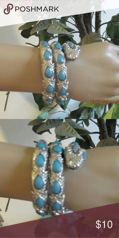 Shop Women's Blue Silver size OS Bracelets at a discounted price at Poshmark. Description: This blue and silver bracelet has a stretch and twist method to put on, this bracelet is nwot. Snake Bracelet, Blue And Silver, Jewelry Bracelets, Gold, Things To Sell, Closet, Armoire, Cabinet, Closets