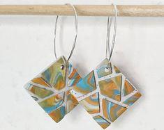 MATTONELLE earrings hoops   Etsy Hoop Earrings, Etsy, Jewelry, Handmade Gifts, Hand Made, Jewlery, Jewerly, Schmuck, Jewels