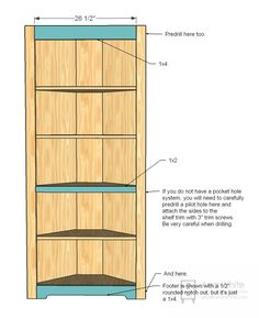 Ana White   Corner Cupboard - DIY Projects
