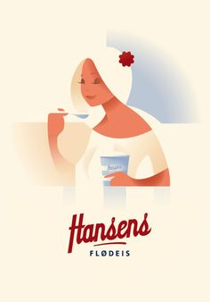 Hansen's Ice Cream by Mads Berg, via Behance
