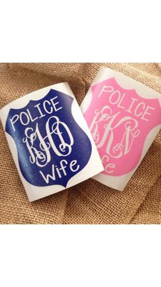 Maybe with their badge number or last name? Cop Wife, Police Officer Wife, Police Wife Life, Police Girlfriend, Vinyl Crafts, Vinyl Projects, Law Enforcement Wife, Be My Hero, Monogram Decal