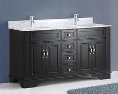 Bosconi A 5092a5095d Double 59 Inch Espresso Transitional Bathroom