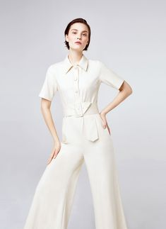 Uterqüe Spain Product Page - Ready to wear - Jumpsuits - Shirt-style jumpsuit - 150