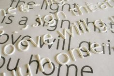 Way cheaper than buying wooden letters for everything!  Make raised letters for craft projects: print out the font you want and place wax paper over it. Trace letters with puffy paint, let dry, then use mod podge to secure letters to canvas! (great step by step on how to do this, and which paint works best)