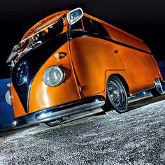 Cool Orange Black Safari Split panel #VWBus | re-pinned by http://www.wfpblogs.com/category/toms-blog/