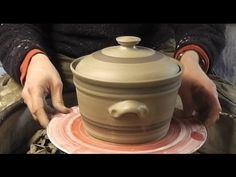 ▶ How to throw / make a Pottery Casserole & lid on the wheel - YouTube