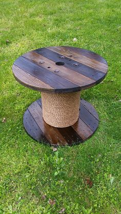 Wooden Spool Table by AsheWoodWorks on Etsy