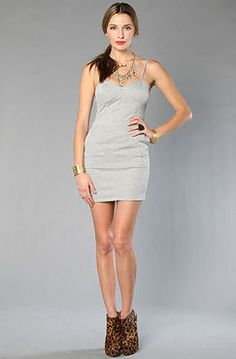 The Glory Dress in Gray by Blaque Market - $78