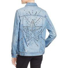 926911e58287 Blank Nyc Oversized & Embellished Denim Jacket in Light Blue