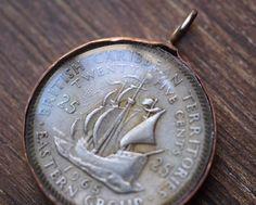 British Caribean Coin by Lorinda3LJewelry on Etsy. $15.00, via Etsy.