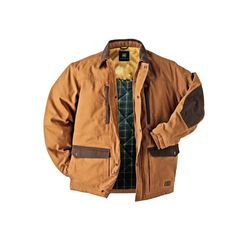 Superior warmth with a flannel lining and also water resistant.    Featured: Walls Mens Brown John Deere Barn Jacket