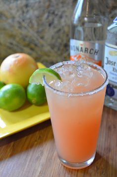 Pink Grapefruit Lime Margarita | Serena Bakes Simply From Scratch