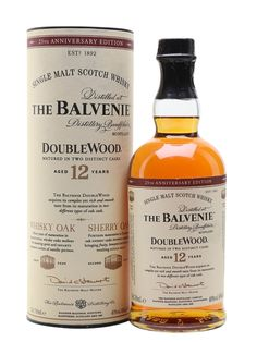 Balvenie 12 Year Old DoubleWood Scotch Whisky : The Whisky Exchange Good Whiskey, Cigars And Whiskey, Scotch Whiskey, Whiskey Room, Whiskey Girl, Irish Whiskey, Bourbon Whiskey, Balvenie Whisky, Whiskey Cocktails
