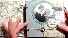 Scrapbook Mini Album  [vintage,Foto,Album,selbst gemacht,basteln mit Pap...