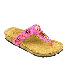 Pink Ashbury Leather Sandal by California Footwear Company #zulily #zulilyfinds