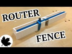 Make It - Adjustable Router Fence - YouTube