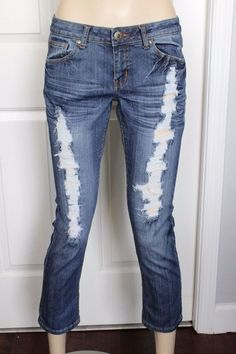 JC JQ Jeans Women's JQ-1856 Lowrise Destroyed Cropped Skinny Jeans Size 11 in Clothing, Shoes & Accessories, Women's Clothing, Jeans | eBay