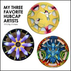 A look at the work of three very different Hubcap Artists at http://www.ifitshipitshere.com/hubcap-artists/