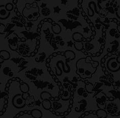 monster high black background