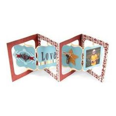 Sizzix - Bigz Die - Album, Accordion Flip 3D - 12,07 x 13,34 cm