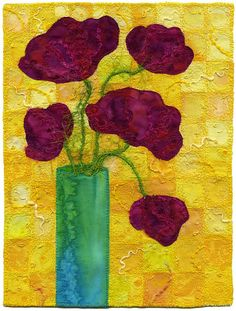 Vase of Poppies 2 | I love working with yellow. It's such a … | Flickr