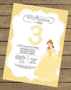 Printable personalised beauty and the beast princess belle birthday princess belle invitation princess belle invite beauty and the beast invitation princess party belle party princess birthday filmwisefo Images