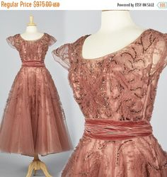 10% Off Medium 1950s Party Dress 50s Princess by StyleandSalvage