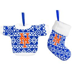 bf3802b291d New York Mets Holiday Ugly Stocking and Sweater Ornament Set - MLB.com Shop  New