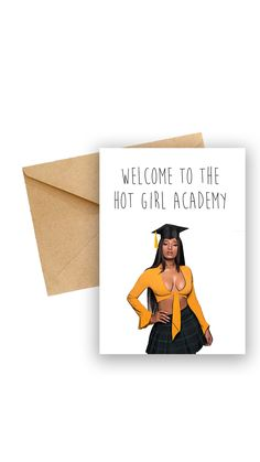 Megan Stallion - Hot Girl Academy - Greeting Card - Celebrity Cards - Puns - Celebrity Birthday Cards - Cardi B #CardsForHer #CelebrityCards #CelebrityBirthday #GreetingCardHiphop #MeganStallion #CardForHer #GreetingCard #GiftCardForHer #BirthdayCard #GiftCard Happy Birthday Grandma, 90 Day Fiance, Wedding Humor, Laugh Out Loud, Baby Love, Puns, Valentine Day Gifts, Birthday Cards, Hot Girls