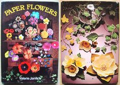 """vintage how to make """"PAPER FLOWERS"""" craft book (70s)"""