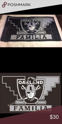 NFL OAKLAND RAIDERS FLAG 🏈 Brand new in package measures almost 3 ft. by 5 ft. slightly smaller. NFL Accessories