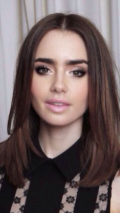 Prom makeup Lily Collins!! #topshoppromqueen