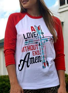 Casual Round Collar Long Sleeve Letter and Arrows Print Color Block Women's T-Shirt
