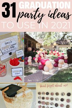 My daughter and I were planning her graduation party and had no idea what to do until we found this page! Love these ideas. Graduation, It Is Finished, Table Decorations, Party, Home Decor, Decoration Home, Room Decor, Receptions, Graduation Day