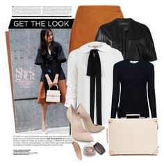 """""""Get the look: At work"""" by jan31 ❤ liked on Polyvore featuring MSGM, Federica Tosi, Michael Kors, IRO, Globe-Trotter, Casadei, GetTheLook, WorkWear, Pumps and buttondownblouses"""