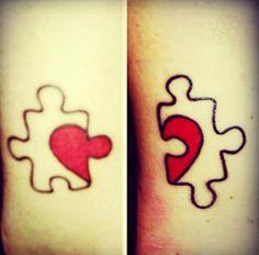 Puzzle heart tattoo #tattoo #womentriangle