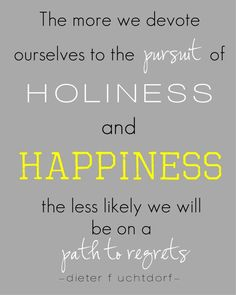The more we follow Christ, the more enjoyable our path will be.