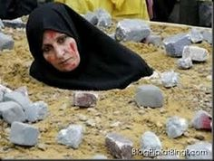 Muslim woman stoned to death for adultery!