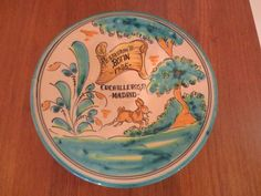 Vintage Spanish Hand Painted Majolica Madrid Restaurante Signed Plate Charger | eBay