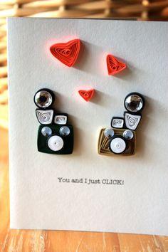 Tú y yo simplemente haga clic en - tarjeta de la cámara Vintage - amistad y amor - única tarjeta de felicitación - Diana Mini